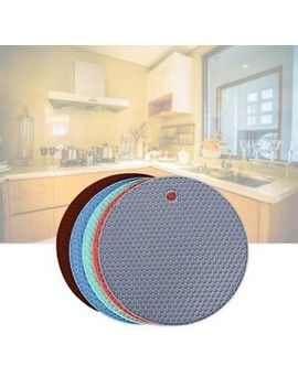 round-heat-resistant-silicone-trivet-mat-pan-pot-holder-for-family-use-non-slip by ebay-seller