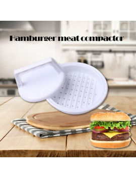 plastic-burger-press-hamburger-meat-beef-grill-cooking-maker-kitchen-mold by ebay-seller