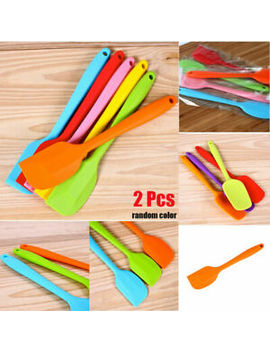 2x-silicone-spatula-cooking-baking-scraper-cake-cream-butter-mixing-batter-tools by ebay-seller
