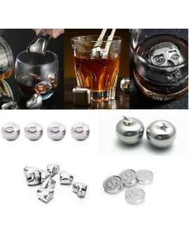4_6pcs-wine-whiskey-stone-chilling-stainless-steel-ice-cube-barware-creative by ebay-seller