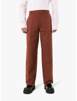 Knee Patch Straight Leg Trousers by Raf Simons
