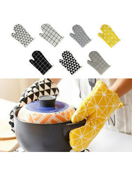 cotton-kitchen-microwave-oven-heat-proof-mitt-glove-protector-potholders-cooking by ebay-seller