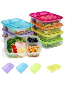 3-compartment-lunch-box-set-of-1-6-meal-prep-containers-food-storage-with-lids by ebay-seller