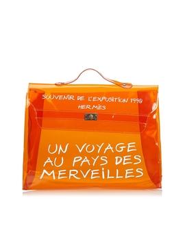 Orange Vinyl Kelly Handbag by HermÈs