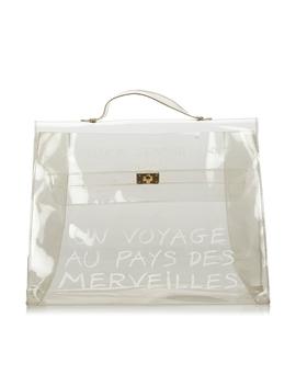 White Vinyl Kelly Handbag by HermÈs