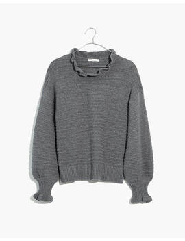 ruffle-neck-pullover-sweater by madewell