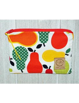 reusable-zippered-snack-size-bags---reusable-zippered-sandwich-size-bags---waterproof-nylon-lining---pears by etsy
