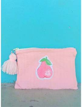 fruity-pastel-pink-zipper-pouch-with-tassle-(great-unique-present-idea!) by etsy