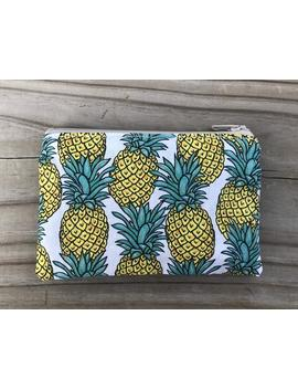 pineapples-with-gold-lining-zipper-pouch,-small-cosmetic-bag,-gift-card-holder,-jewelry-pouch,-purse-organizer,-coin-pouch,-pineapple by etsy