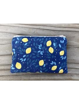 small-lemons-zipper-pouch,-gift-card-holder,-coin-pouch,-jewelry-pouch,-purse-organizer,-stocking-stuffer,-business-card-holder by etsy