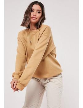 gold-basic-plain-sweatshirt by missguided