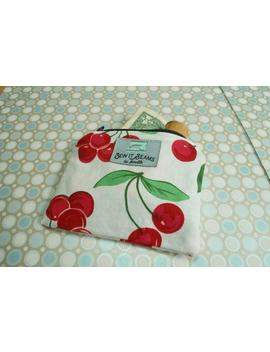 cherries-white-zipper-pouch--wallet-size by etsy