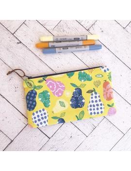 pears-zipper-pouch,-pencil-zipper-case,-back-to-school by etsy