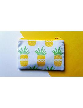 hand-printed-pineapple-coin-purse by etsy