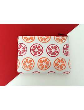 hand-printed-orange-&-grapefruit-coin-purse by etsy