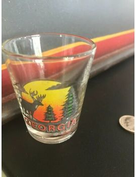 georgia-shot-glass--deer,-pine-trees,-sunset by ebay-seller