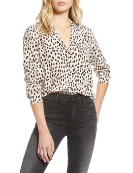spot-pattern-silk-button-up-shirt by rails