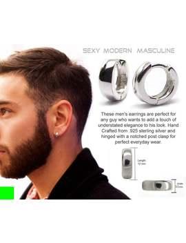 mens-hoop-earrings-real-sterling-silver-12mm by etsy