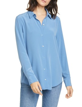 essential-silk-button-up-shirt by equipment