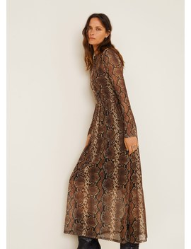 Printed Tulle Dress by Mango