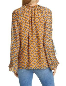 brenna-long-sleeve-v-neck-silk-top by ramy-brook
