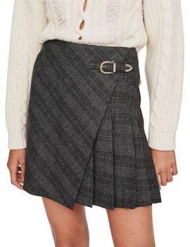 jinda-plaid-mini-skirt by maje