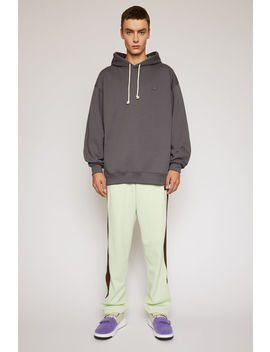 Face Hooded Sweatshirt Stone Grey by Acne Studios
