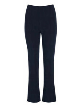 ladies-women-soft-stretch-pull-on-bootleg-ribbed-trousers-plus-size-8-26 by ebay-seller