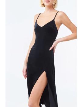 velvet-cami-midi-dress by forever-21