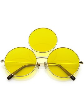 Third Eye Sunglasses  Yellow by Alien Outfitters