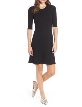 marilyn-rib-fit-&-flare-dress by amour-vert