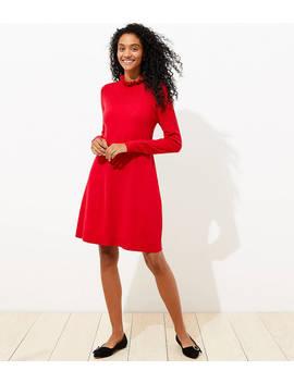 Ruffle Pointelle Sweater Dress by Loft
