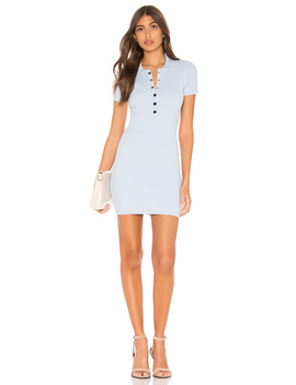 leyla-ribbed-polo-dress by superdown