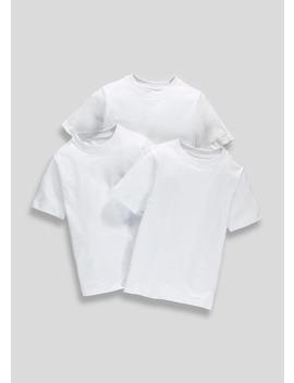 Unisex 3 Pack School T Shirts (3 16yrs) by Matalan