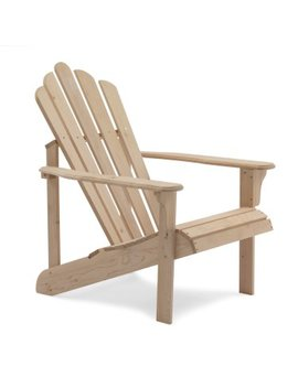 Coral Coast Hubbard Wooden Adirondack Chair   Unfinished by Coral Coast