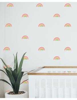 set-van-20-regenboog-stickers,-rainbow-muur-stickers,-rainbow-muur-stickers,-rainbow-vinyl,-kinderkamer,-muur-stickers,-muur-stickers,-baby-nursery by etsy