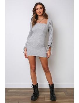 Do You Mind Dress   Grey by Stelly