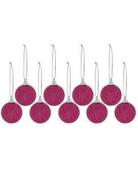 Pink Mini Glitter Ball Ornaments by Hobby Lobby