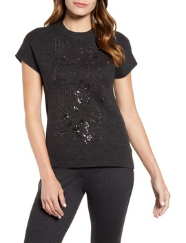 embellished-short-sleeve-sweater by anne-klein