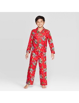boys-toy-story-2pc-coat-pajama-set---red by toy-story
