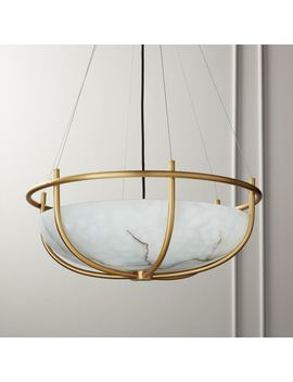 parachute-glass-dome-chandelier by crate&barrel