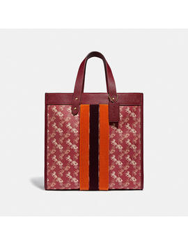lunar-new-year-field-tote-with-horse-and-carriage-print-and-varsity-stripe by coach