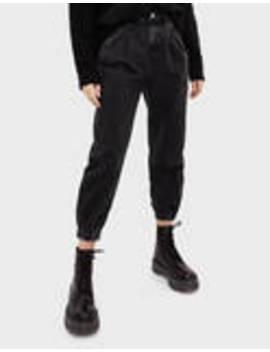 jeansy-slouchy-ze-ściągaczami by bershka