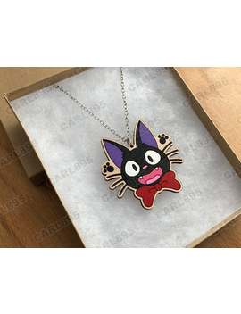 kikis-delivery-service-jiji-inspired---hand-painted-wood-necklace by etsy