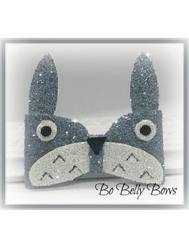 inspired-by-my-neighbor-totoro-anime-bow,-anime-hairbow,-anime-fan-art,-anime-hair-clip,-anime-head-band,-anime-forest-spirit-hair-clip by etsy