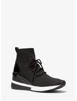 skyler-stretch-knit-lace-up-sock-sneaker by michael-michael-kors