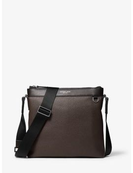 Greyson Pebbled Leather Messenger Bag by Michael Kors Mens