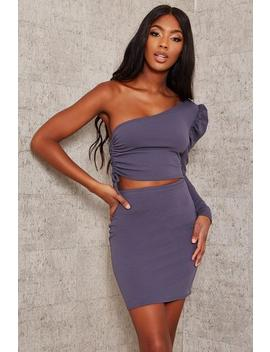 charcoal-cut-out-one-sleeve-mini-dress by i-saw-it-first