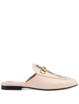 princetown-leather-slipper-with-mystic-cat by gucci
