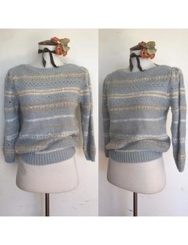 cute-70s-boatneck-sweater by etsy